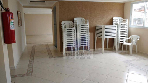 apartamento residencial à venda, vila tupi, praia grande. - ap0107