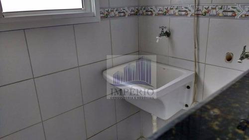 apartamento residencial à venda, vila tupi, praia grande. - ap0108