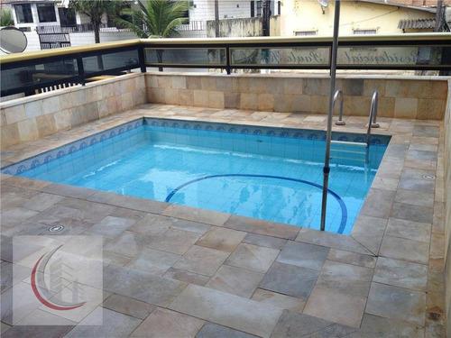 apartamento  residencial à venda, vila tupi, praia grande. - ap0456
