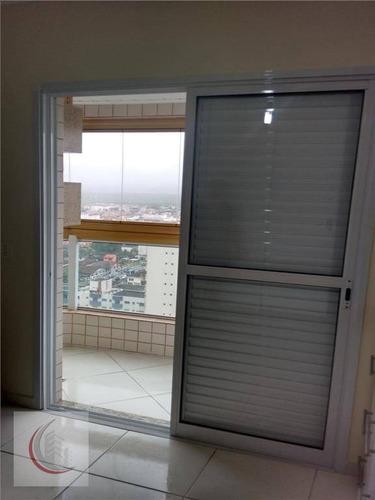 apartamento  residencial à venda, vila tupi, praia grande. - ap0732