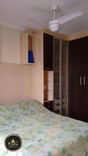 apartamento residencial à venda, vila tupi, praia grande. - ap1108
