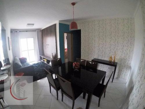 apartamento residencial à venda, vila tupi, praia grande. - ap2002