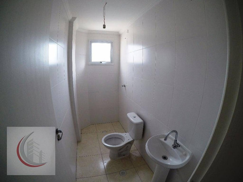 apartamento residencial à venda, vila tupi, praia grande. - ap2037