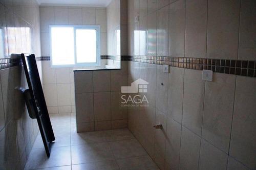 apartamento residencial à venda, vila tupi, praia grande. - ap2396
