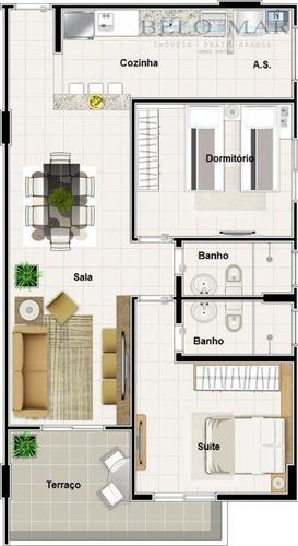 apartamento residencial à venda, vila tupi, praia grande. - codigo: ap1038 - ap1038