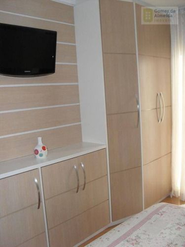 apartamento residencial à venda, vila valparaíso, santo andré - ap0180. - ap0180