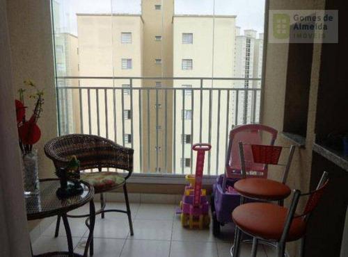 apartamento residencial à venda, vila valparaíso, santo andré - ap1041. - ap1041