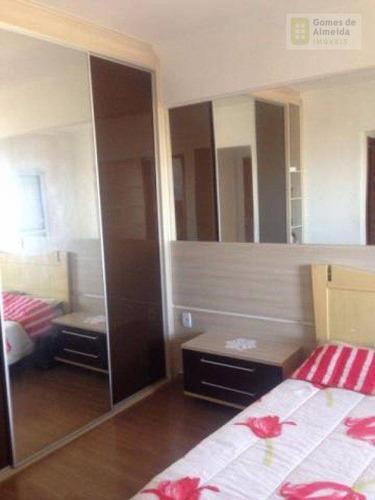 apartamento residencial à venda, vila valparaíso, santo andré - ap1350. - ap1350