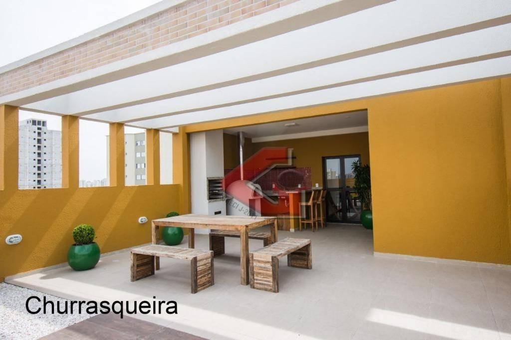apartamento residencial à venda, vila valparaíso, santo andré. - ap2570