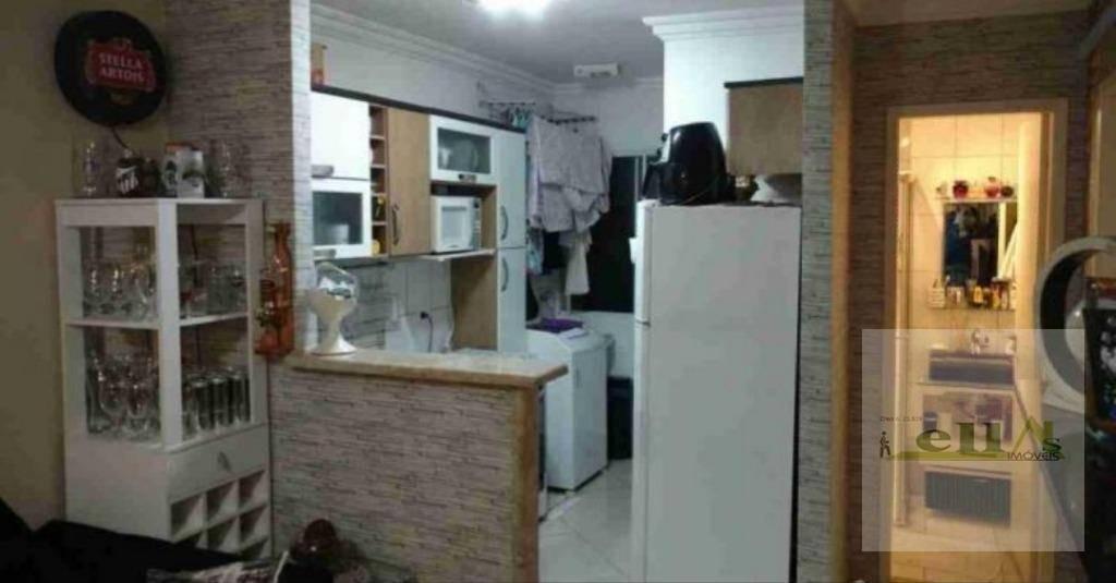 apartamento residencial à venda, vila veloso, carapicuíba. - ap0767