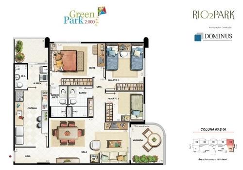 apartamento rio 2 - 3 quartos - barra da tijuca - 196