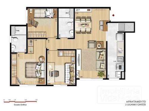 apartamento - sarandi - ref: 2017 - v-2017