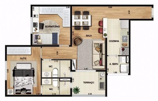 apartamento saúde 2 dormitorios 1 vaga zona sul pronto