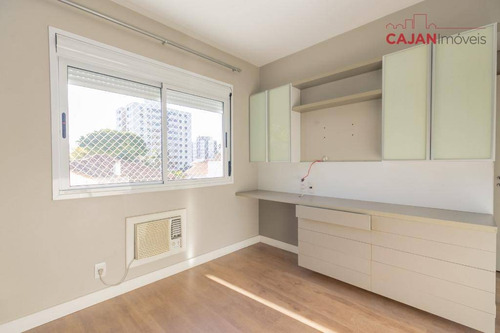 apartamento semi-mobiliado com 2 dormitórios e 1 vaga no bairro petrópolis - ap3993