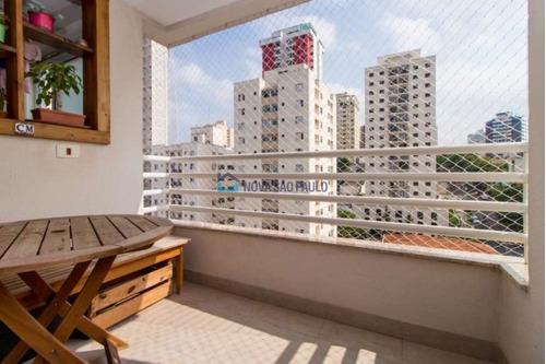 apartamento seminovo, apenas 650 m do metrô praça da árvore. andar alto e decorado.  - bi25678