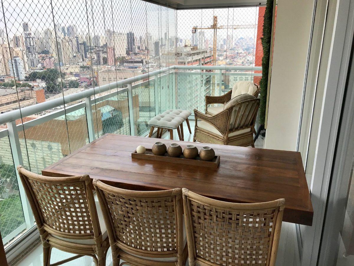 apartamento setai tatuapé 130m² - varanda gourmet