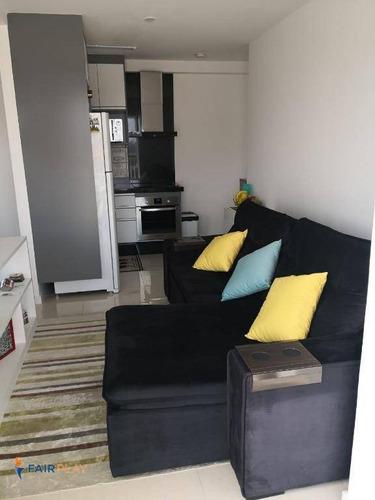 apartamento studio mobiliado com lazer na chacara santo antonio - ap4561