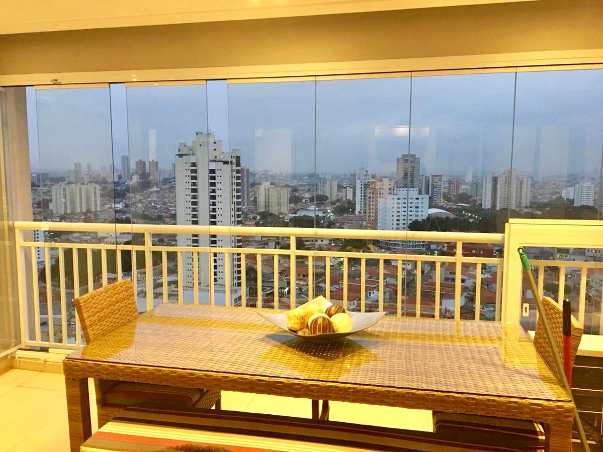 apartamento tatuapé - 117m² - terraço gourmet