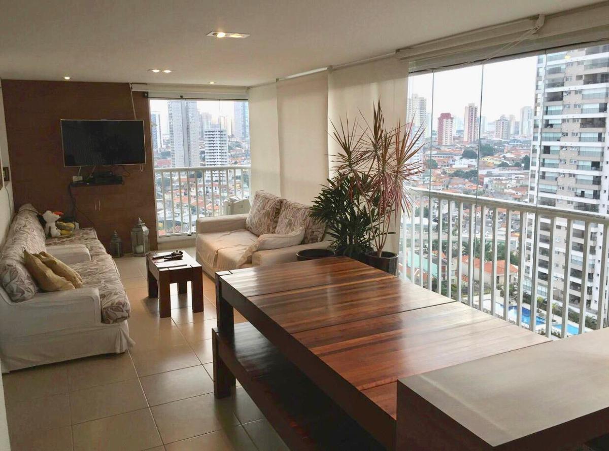 apartamento tatuapé 137m² - terraças