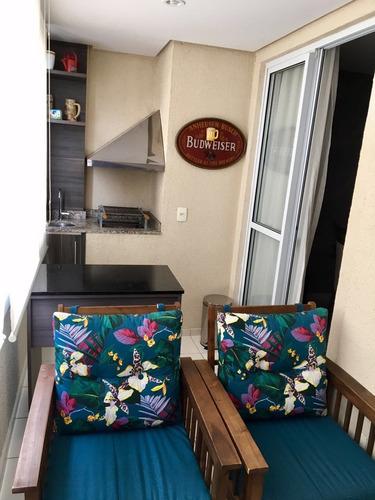 apartamento tatuapé - terraço churrasqueira