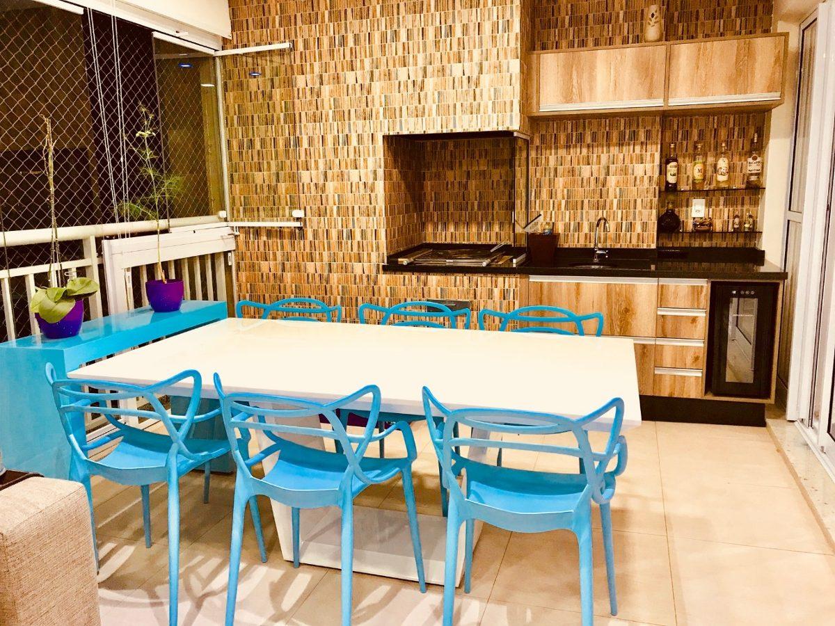 apartamento tatuapé terraço gourmet 117m²