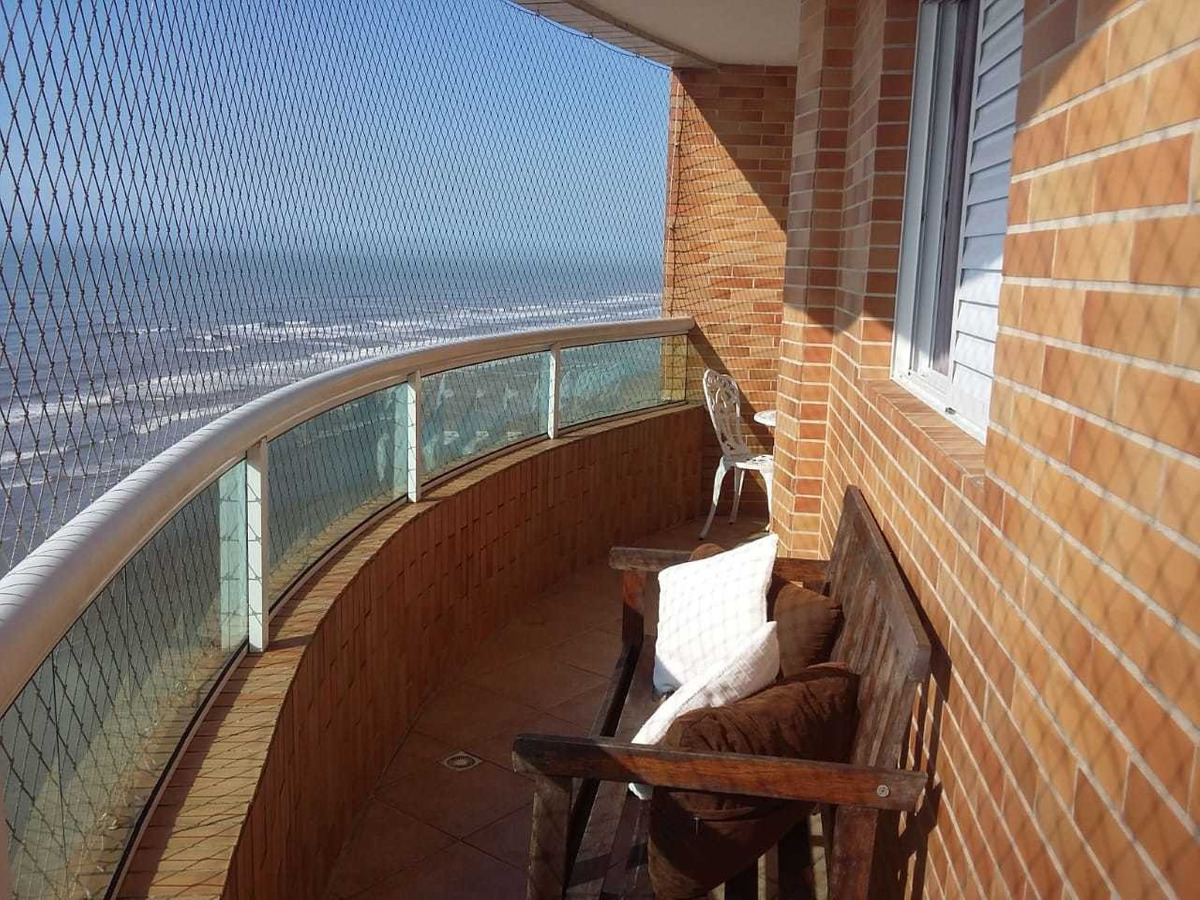 apartamento temporada, linda vista mar caiçara, praia grande