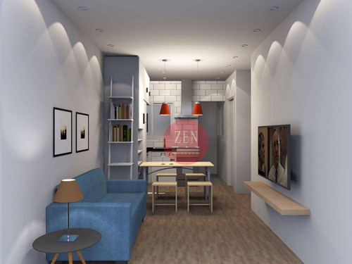 apartamento tipo studio residencial à venda, vila guilhermina, são paulo. - st0031