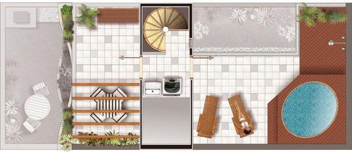 apartamento triplex 162m², 3 dormitórios, suite, 2 vagas, campestre, santo andré. - at0008
