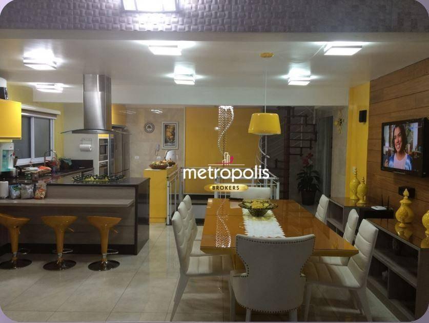 apartamento triplex com 4 dormitórios à venda, 357 m² por r$ 3.500.000 - santa paula - são caetano do sul/sp - at0003