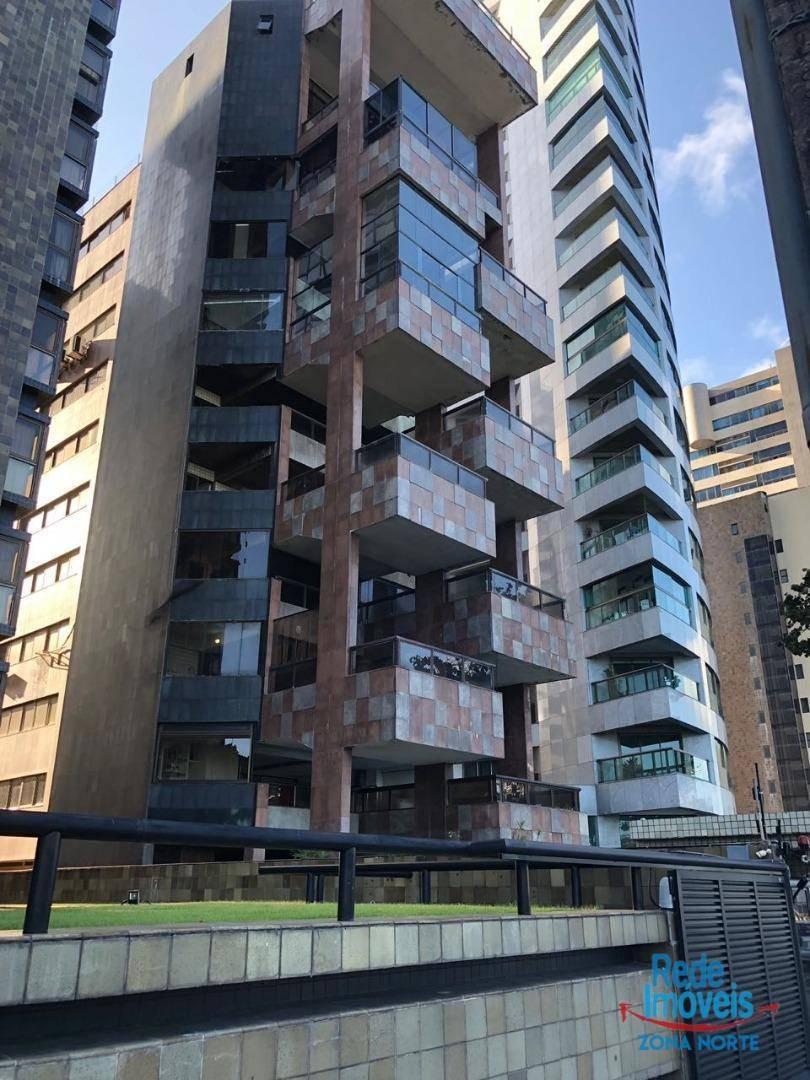 apartamento triplex para alugar, 1300 m² por r$ 20.000,00/mês - boa viagem - recife/pe - at0011