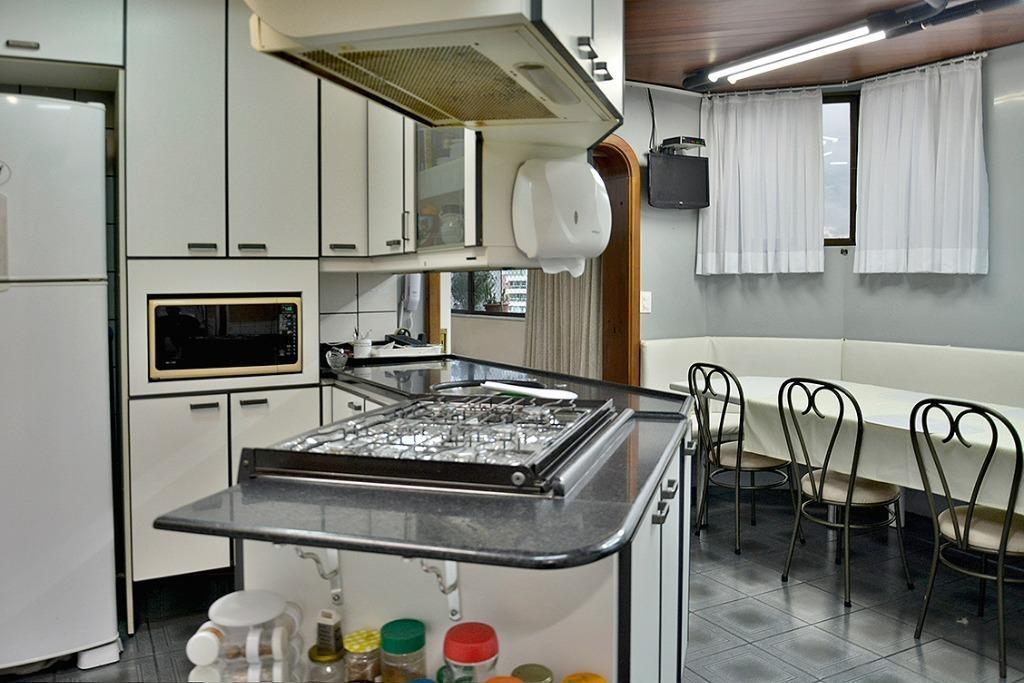 apartamento um por andar com 4 dormitórios (sendo 2 suítes), 278 m² por r$ 950.000 - ponta aguda - blumenau/sc - ap2714