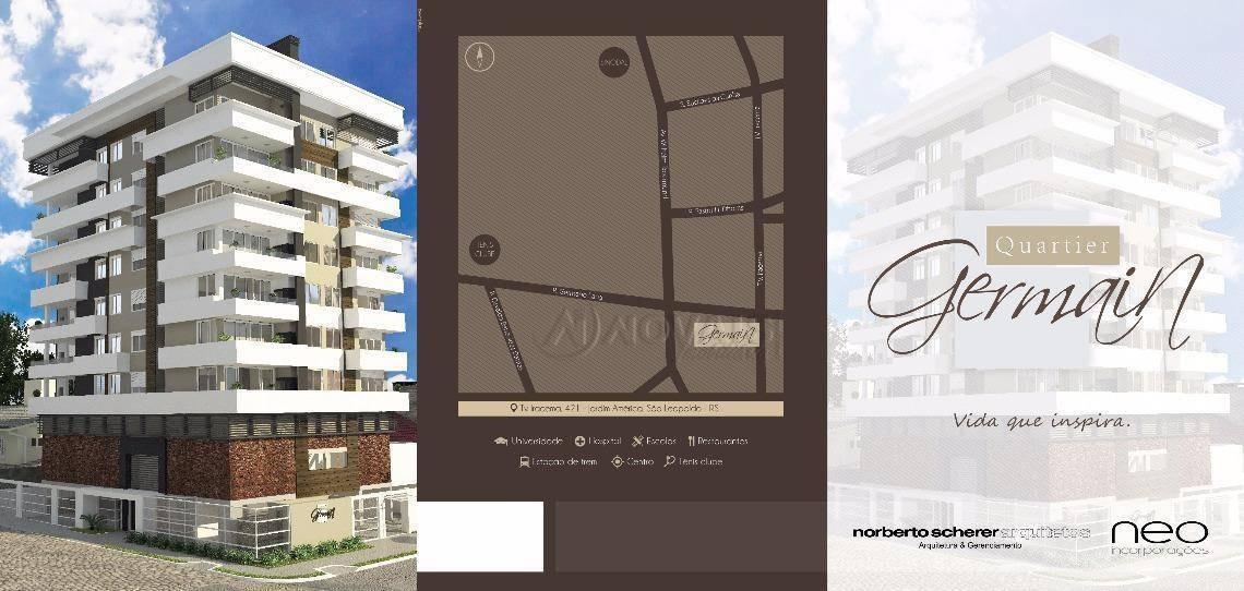 apartamento à venda, 103 m² por r$ 620.000,00 - jardim américa - são leopoldo/rs - ap2735