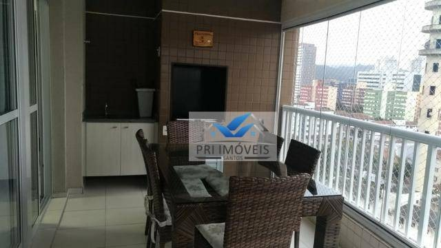 apartamento à venda, 111 m² por r$ 665.000,00 - encruzilhada - santos/sp - ap0888