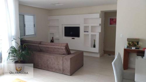 apartamento à venda, 120 m² por r$ 530.000,00 - jardim aquarius - são josé dos campos/sp - ap0227