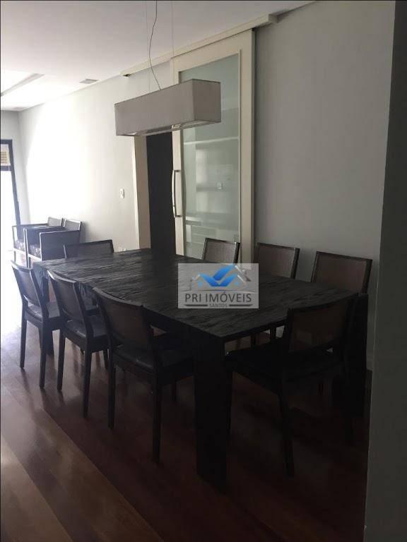 apartamento à venda, 131 m² por r$ 745.000,00 - pompéia - santos/sp - ap0180