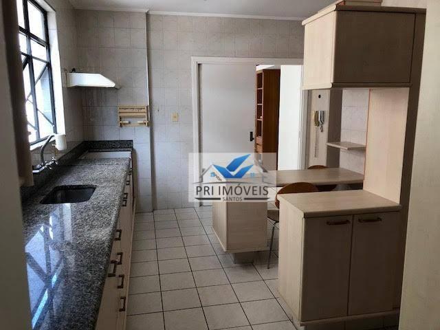 apartamento à venda, 147 m² por r$ 750.000,00 - pompéia - santos/sp - ap0280