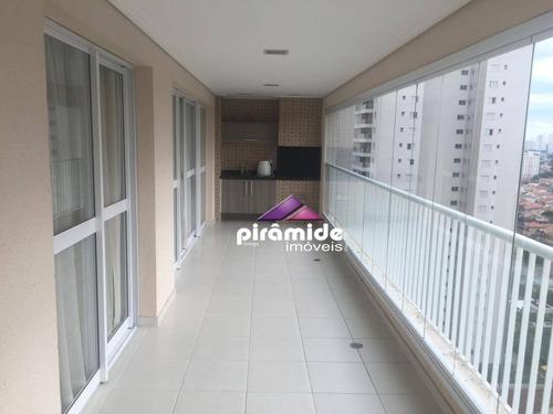 apartamento à venda, 156 m² por r$ 750.000,00 - jardim das indústrias - são josé dos campos/sp - ap10404