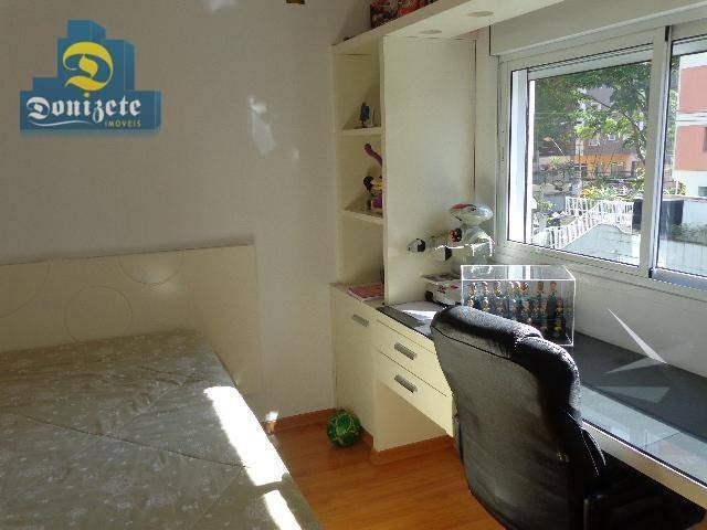 apartamento à venda, 169 m² por r$ 1.150.000,00 - jardim - santo andré/sp - ap8597