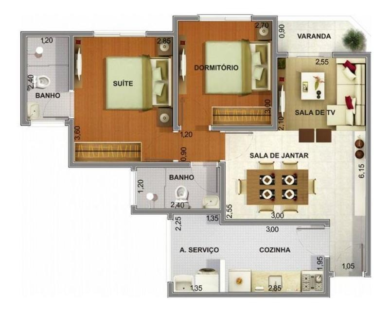 apartamento à venda, 2 quartos, 1 vaga, centro - sumaré/sp - 2867