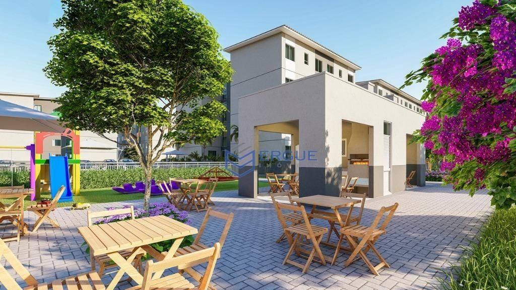 apartamento à venda, 42 m² por r$ 121.200,00 - centro - caucaia/ce - ap0512