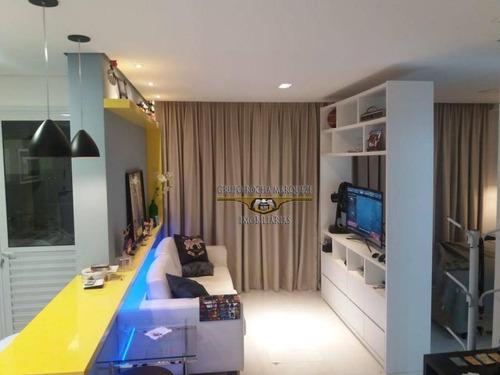 apartamento à venda, 48 m² por r$ 550.000,00 - tatuapé - são paulo/sp - ap2205