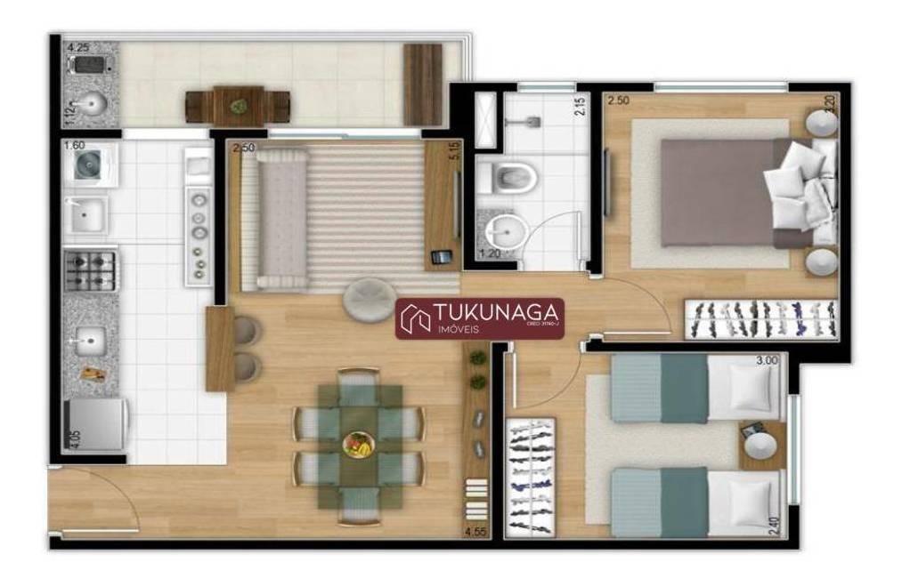 apartamento à venda, 52 m² por r$ 284.900,00 - jardim flor da montanha - guarulhos/sp - ap3393