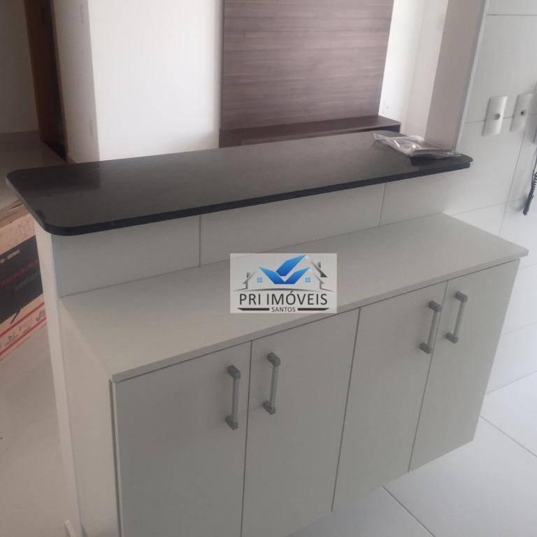 apartamento à venda, 52 m² por r$ 550.000,00 - embaré - santos/sp - ap0534