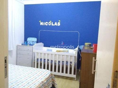 apartamento à venda, 56 m² por r$ 313.000,00 - são josé - são caetano do sul/sp - ap2596