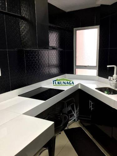apartamento à venda, 58 m² por r$ 330.000,00 - jardim santa clara - guarulhos/sp - ap2136