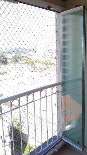 apartamento à venda, 60 m²,  3 dormitórios, 1 vaga,  parque bandeirante em santo andré. - ap1371