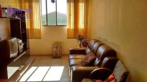apartamento à venda, 60 m² por r$ 350.000,00 - são josé - são caetano do sul/sp - ap0400
