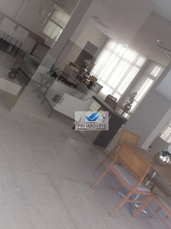 apartamento à venda, 62 m² por r$ 390.000,00 - marapé - santos/sp - ap1004