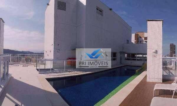 apartamento à venda, 64 m² por r$ 462.000,00 - pompéia - santos/sp - ap1221