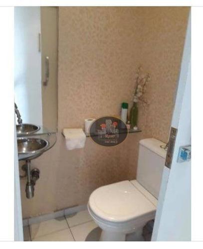 apartamento à venda, 70 m² por r$ 395.000,00 - estuário - santos/sp - ap3062